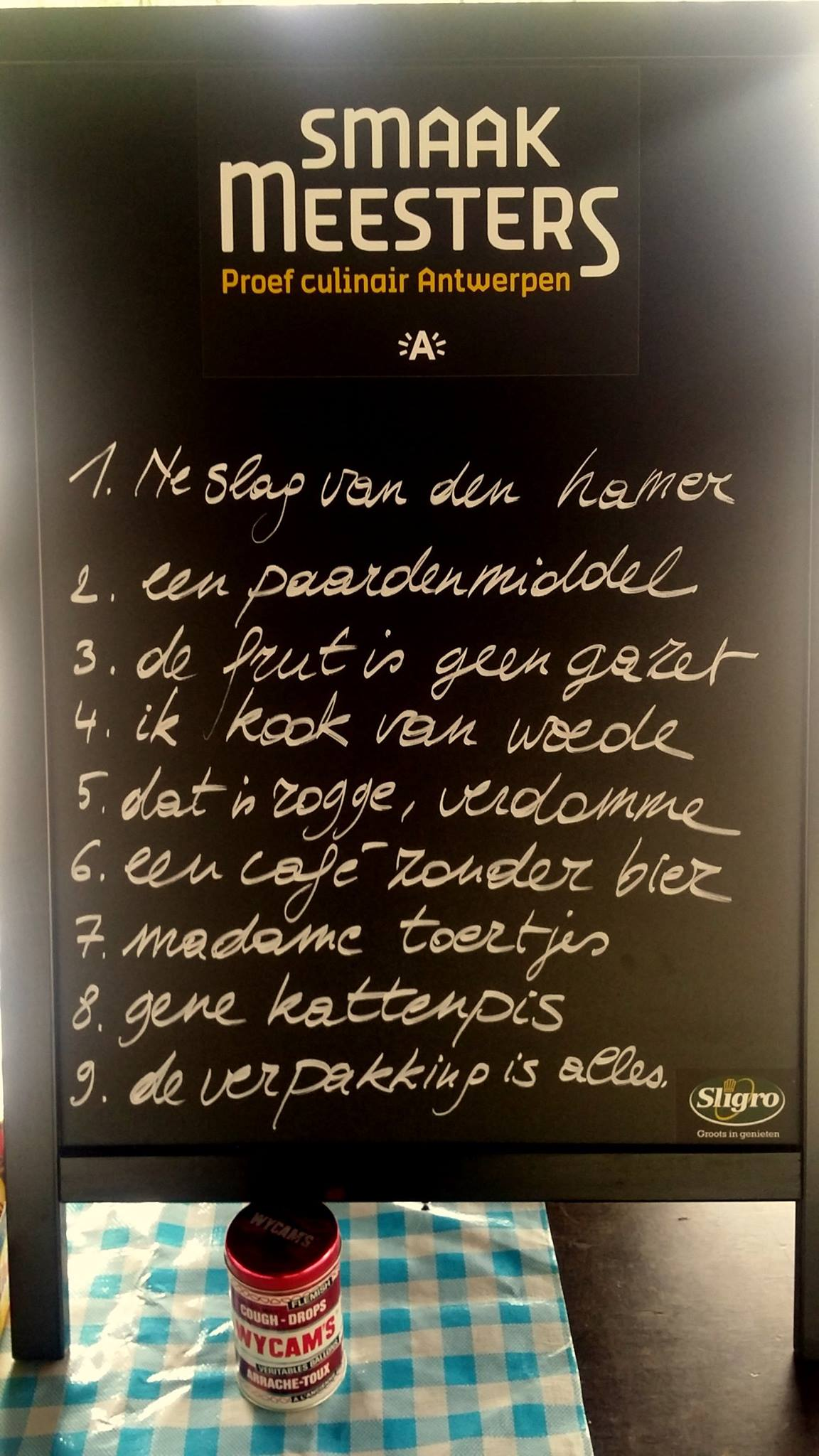 Stille uitleg bij Proef Culinair Antwerpen met De Smaakmeesters