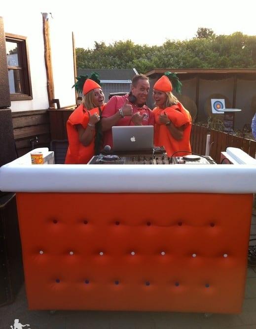 DJ Boot Oranje gecapittonneerd