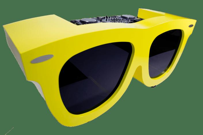 DJ booth Gele zonnebril