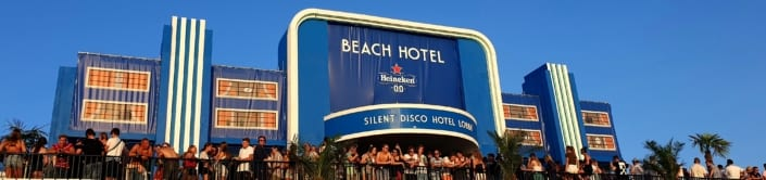 Heineken silent Disco Beach Hotel Concert At Sea