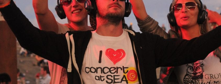 silent disco concert at sea