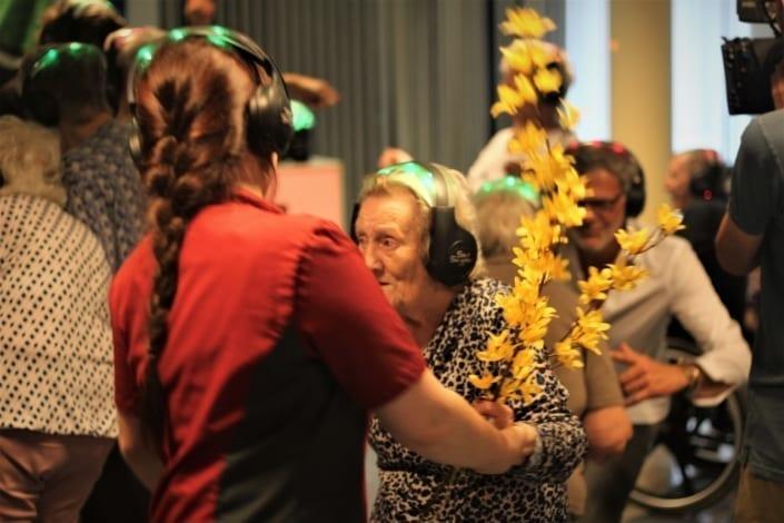 bejaarden silent disco