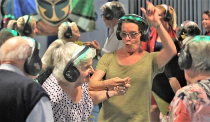 senioren silent disco bejaarden