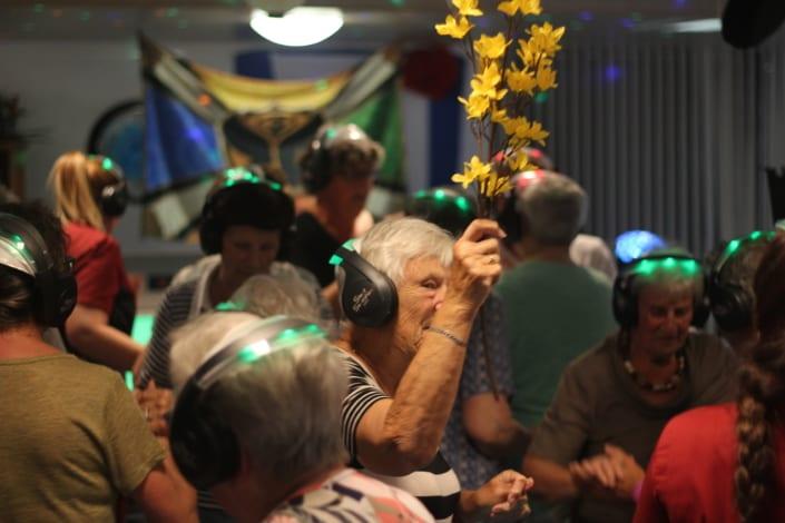 senioren silent disco dansen
