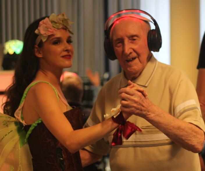 senioren silent disco hostess