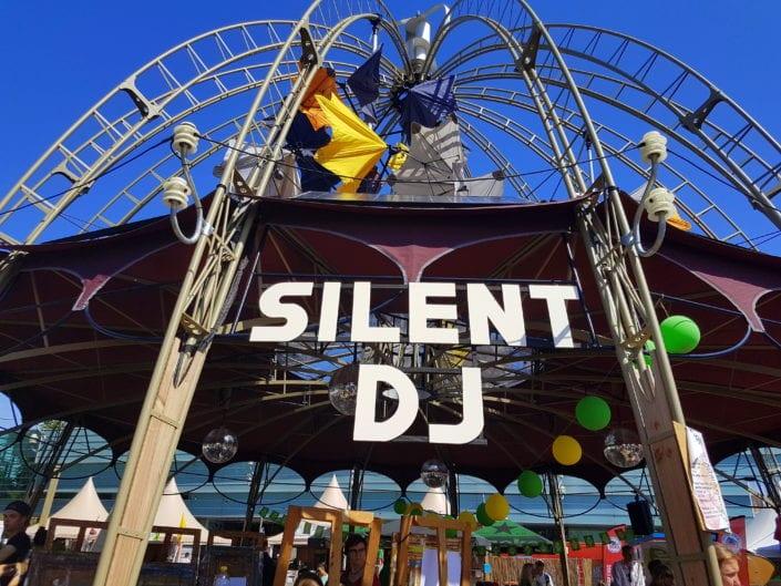 silent disco digitale Gelderlander - silent disco Zomerfeesten Nijmegen - maandag 17 juli 2017 - silentDJ.com