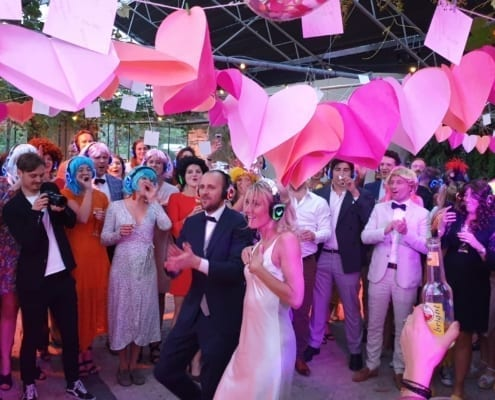 bruiloft silent disco feest