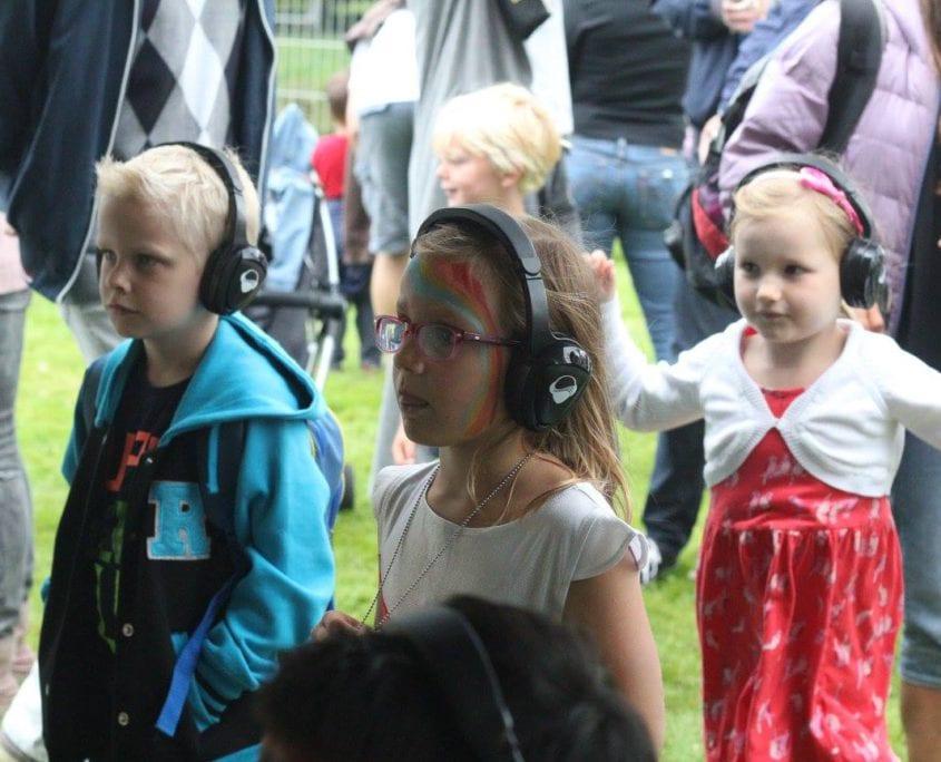 Silent kids disco area bij Waterpop festival Wateringen