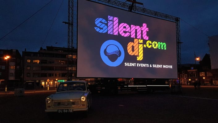 Silent movie drive in bioscoop