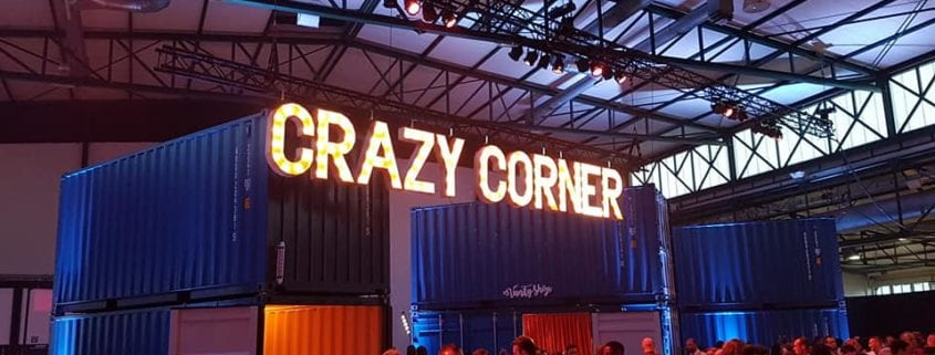 secret area silent disco container Media Markt 15 jaar Brussel Belgie